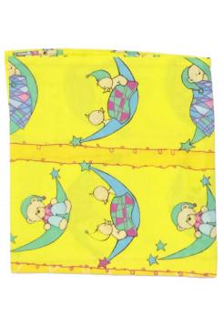 Детская наволочка 50х50, бязь, цвет: желтый