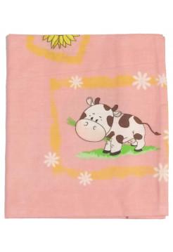 Детская наволочка 50х50, бязь, цвет: розовый
