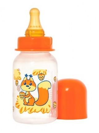 Бутылочка для кормления с латексной соской «Мои любимые животные», 125 мл