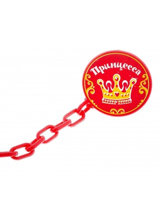 Прищепка для пустышки «Принцесса»