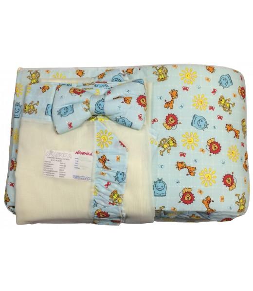 Комплект детского постельного белья в кроватку (7 предметов)