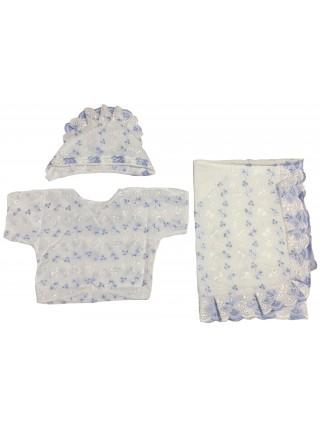 Детский комплект для крещения, шитье (3 предмета)