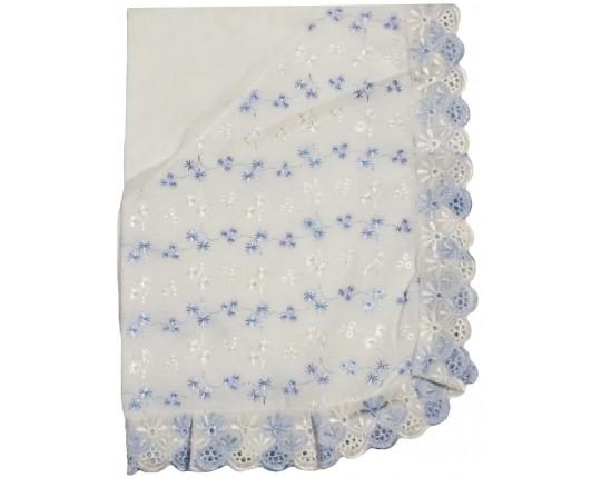 Кружевной уголок на одеяло для новорожденного (шитье)