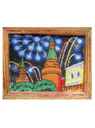 """Песчаная картина """"Фреска в рамке"""" - Кремль"""
