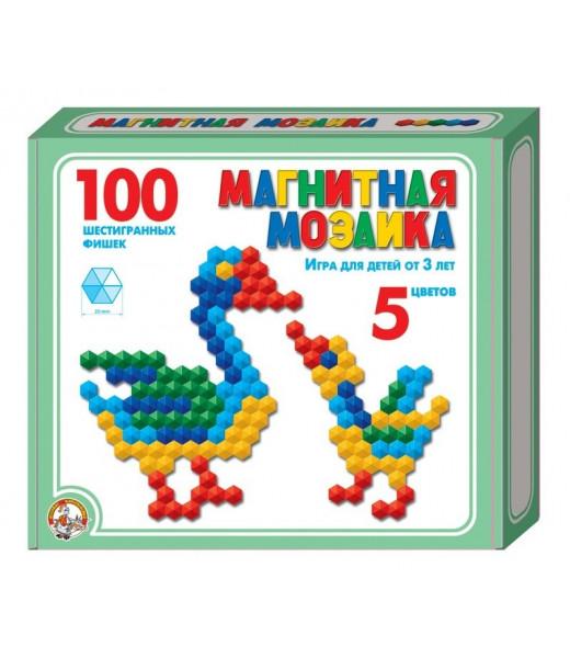 Мозаика магнитная (шестигранная 20 мм, 5 цветов, 100 штук)