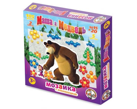 "Мозаика с аппликациями ""Маша и Медведь"", 105 фишек"