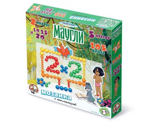 "Мозаика с аппликациями ""Маугли"", 105 фишек"