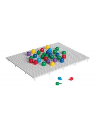 Пластмассовая мозаика 180 элементов, 6 цветов
