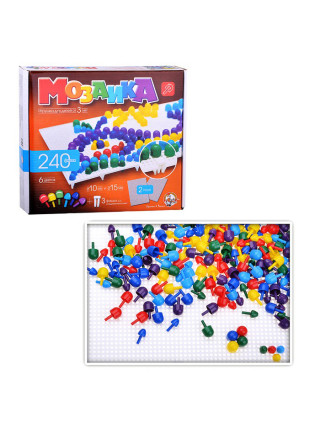 Мозаика разноцветная, 240 фишек, 2 поля