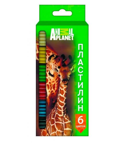 "Пластилин ""Animal Planet"" (6 цв, 120 г.)"
