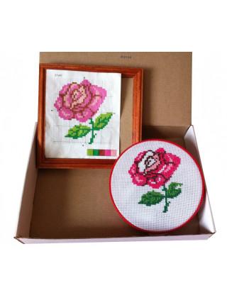 """Вышивка с рамкой """"Роза"""""""