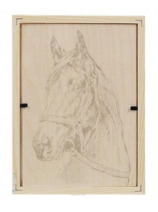 """Картина для выжигания по дереву """"Лошадь"""""""