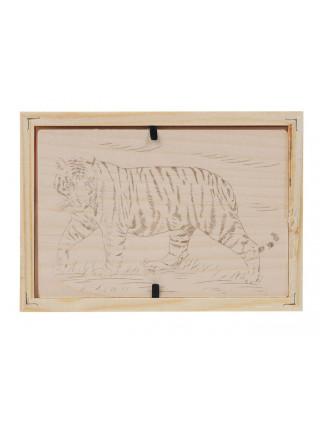 """Картина для выжигания по дереву """"Бенгальский тигр"""""""