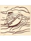 Выжигание и тонировка, набор №1 «Маленький кораблик»