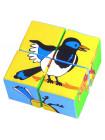 """Кубики """"Собери картинку. Птицы"""" Мякиши"""