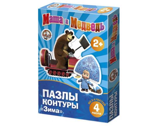 """Пазл-контур """"Маша и Медведь"""" - Зима"""