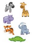 """Контурные пазлы """"Африканские животные"""""""