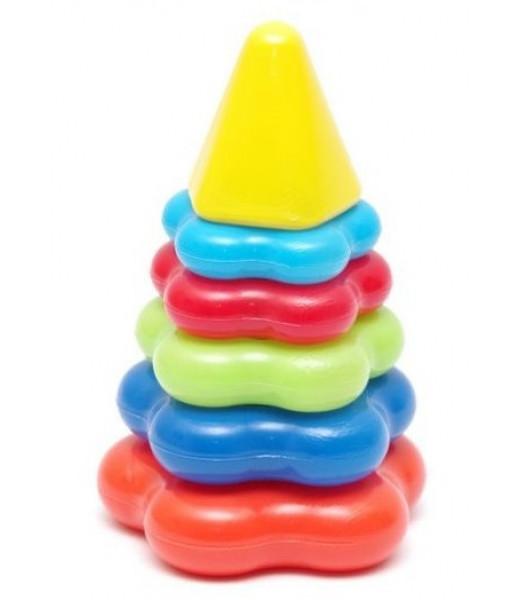 Фигурная детская пирамидка, малая