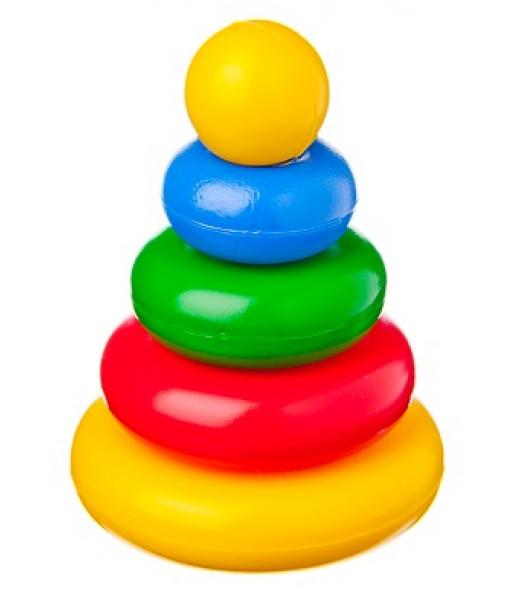 """Пирамидка """"Малышок"""" - Шарик, 4 кольца"""