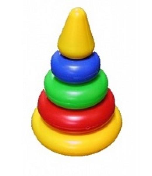 """Пирамидка """"Малышок"""" - Конус, 4 кольца"""