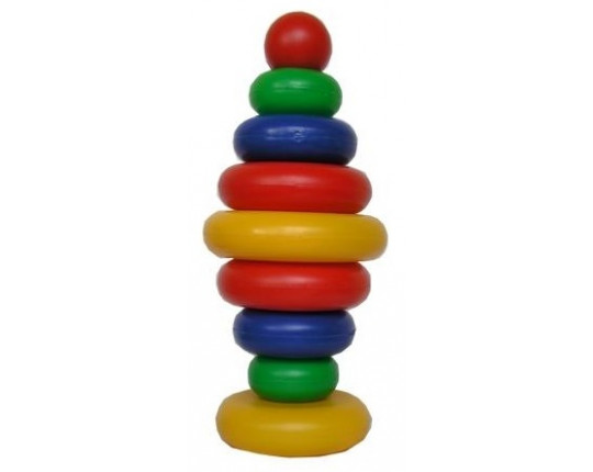 """Пирамидка """"Радуга"""" с шариком, 8 колец"""