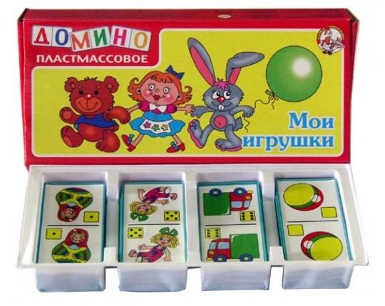 """Детское домино """"Мои игрушки"""" (пластмассовое)"""