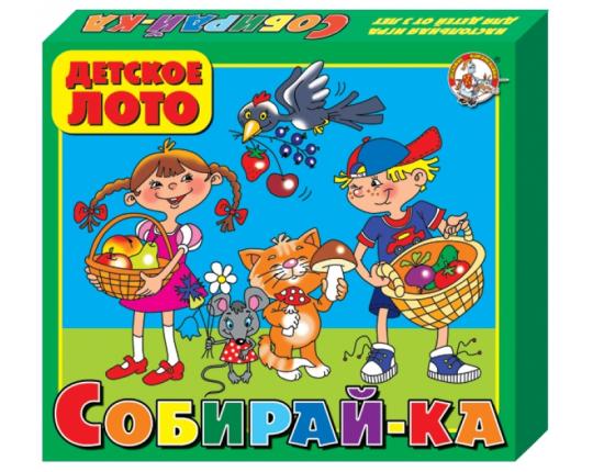 "Детское лото большое ""Собирай-ка"" (картон)"