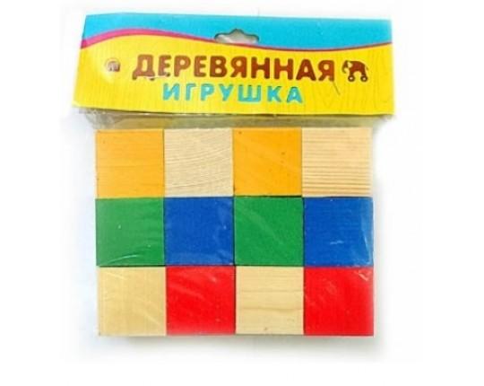 """Деревянная игрушка """"Набор кубиков"""", 12 элементов"""