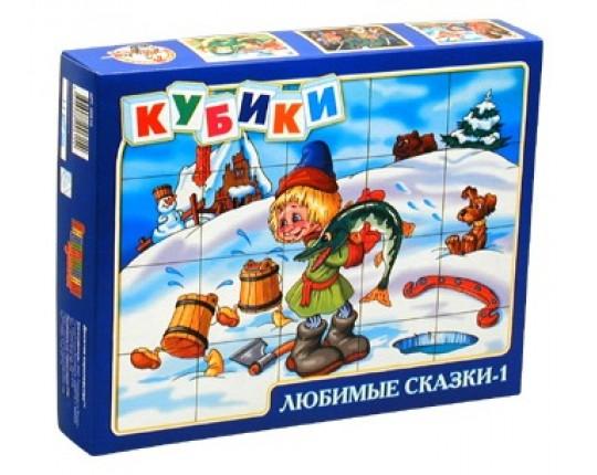 """Кубики """"Любимые сказки 1"""" (20 штук)"""