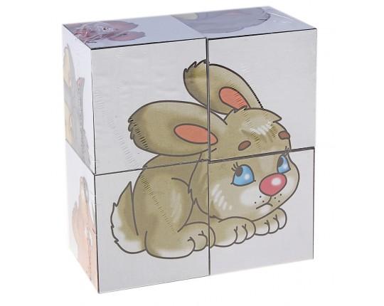 "Кубики ""Малыш: На лесной опушке"" (4 шт.)"