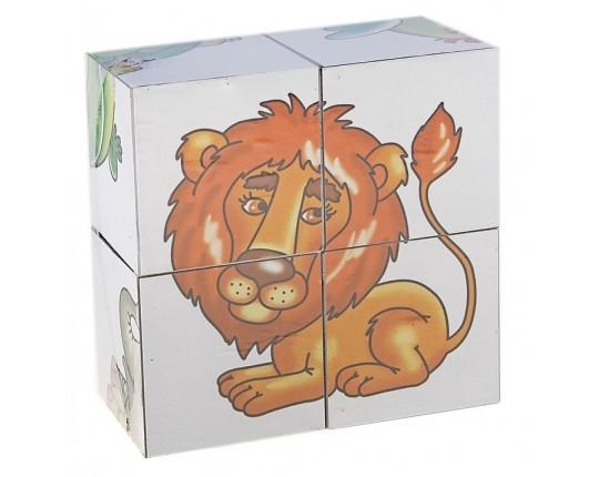 """Кубики """"Малыш: В желтой жаркой африке"""" (4 штуки)"""