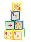 """Кубики """"Цыплят в три года мы считаем"""" (9 штук)"""