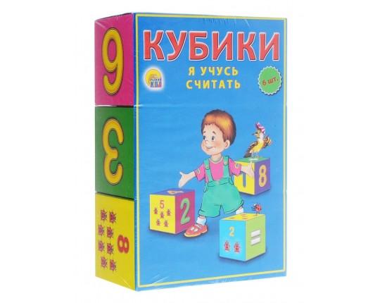 """Кубики """"Я учусь считать"""" 6 шт"""
