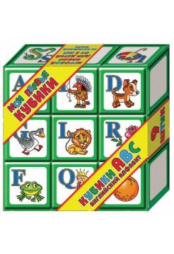 """Мои первые кубики """"АВС Английский алфавит"""" (выдувные, 9 шт.)"""