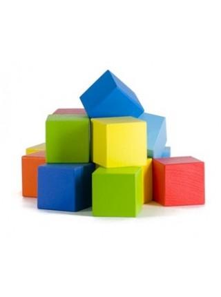 Деревянные кубики (15 шт., окрашенные) Ku-Bik