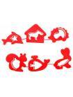 Формочки для лепки и моделирования №1 (6 шт) Луч