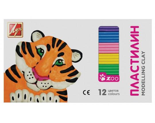 "Пластилин ""Zoo"" (12 цветов, 162 гр) Луч"