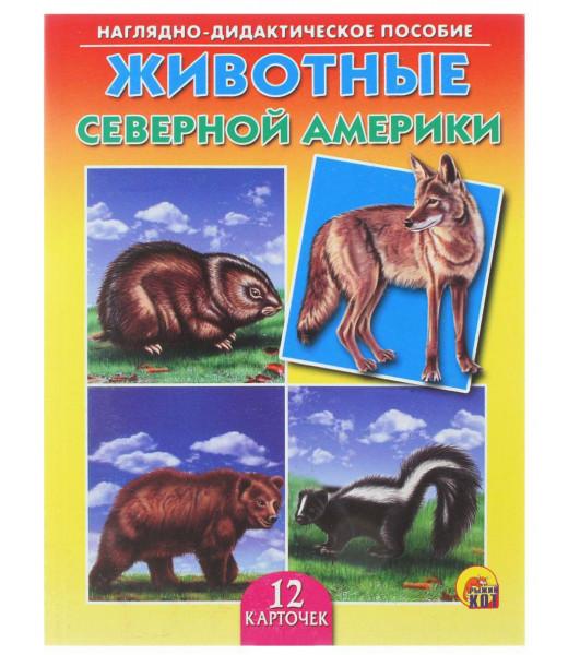 """Дидактическое пособие """"Животные Северной Америки"""" (12 карточек)"""