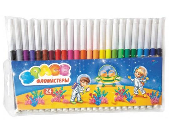 "Фломастеры ""Космонавты"" 24 цвета"