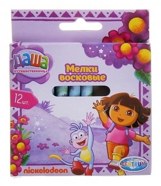 """Восковые мелки для малышей, 12 цветов """"Даша-путешественница"""""""