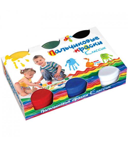 Пальчиковые краски классические (6 цветов, 360 г) ArtSpace