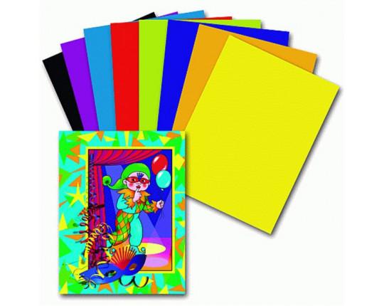 """Цветная бумага A4 Пифагор """"Гномик на карнавале"""", (16л. 8 цв.)"""